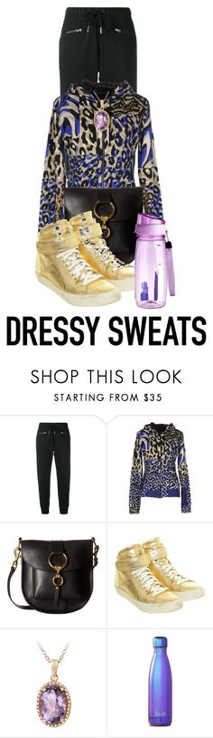 """""""Dressy Sweats Contest"""" by shamrockclover on Polyvore featuring adidas, Versace, Frye, Pierre Hardy and Glitzy Rocks"""