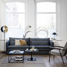 Canapé Design, Modern Design, House Design, Interior Design, Small Living Rooms, New Living Room, Living Area, Chaise Noir Design, Corner Sofa