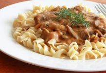 Mushrooms, paprika, fresh dill, and a specially prepared roux add depth and flavor to this delicious Hungarian mushroom pasta sauce. Mushroom Soup Recipes, Mushroom Pasta, Mushroom Sauce, Hungarian Mushroom Soup, Beef Pasta, Pasta Meals, Stuffed Mushrooms, Stuffed Peppers, Hungarian Recipes