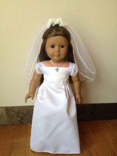American Girl doll clothes - First Communion Dress - Glitter & Pearls. $35.00, via Etsy.