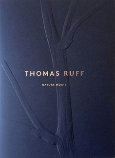 Nature Morte by Thomas Ruff - an exquisite cover Identity Design, Brochure Design, Book Cover Design, Book Design, Web Design Mobile, Blind Embossing, Bussiness Card, Tree Graphic, Graphic Design Typography