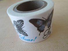 Washi Tape  Single Roll  Butterfly Print by HazalsBazaar on Etsy, $5.00