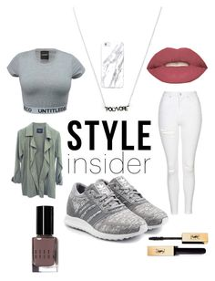 """""""StyleInsider."""" by denisegul ❤ liked on Polyvore featuring Topshop, adidas Originals, Bobbi Brown Cosmetics, Smashbox, contestentry and styleinsider"""