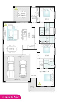 Searching for an affordable house design? Model House Plan, New House Plans, Dream House Plans, Small House Plans, House Floor Plans, Modern Bungalow House, Modern House Design, Casa Top, Three Bedroom House Plan