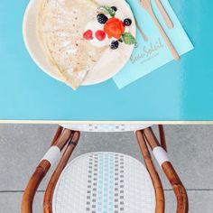 Breakfast and bistro chairs at @beausoleilkitchen  #bistrochair #bistrochairs #frenchcafe #crepes  #Regram via @maisonmidi