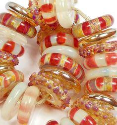 Quinlan Glass Burlesque Boro Handmade Lampwork Glass Beads