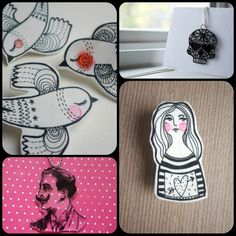 Postcards from Somewhere Here: Project Crafty - Shrink Plastic Jewellery