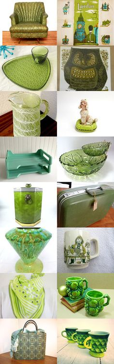 Mid Century Green With Epsteam. by livingavntglife on Etsy--Pinned with TreasuryPin.com