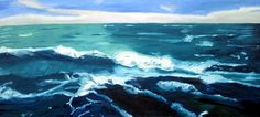 """Depths,"" original landscape painting by artist Sivan Gal (Israel) available at Saatchi Art #SaatchiArt."