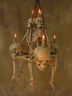 Details about Skeleton Chandelier, Halloween Prop, Human Skeletons Fairy Halloween Costumes, Scary Halloween Decorations, Halloween Home Decor, Halloween Skeletons, Halloween Projects, Holidays Halloween, Spooky Halloween, Halloween Themes, Vintage Halloween