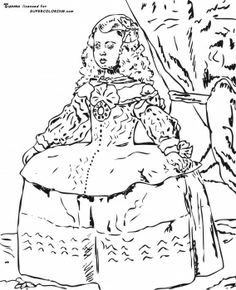 Portrait Of The Infanta Margarita By Diego Velasquez