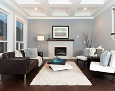 I Like It Living Room Decor Brown Leather Couch Blue And