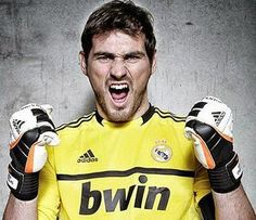 Casillas is all in Real Madrid, Louie Vito, Handsome Football Players, Goalkeeper, Fc Barcelona, Mad Men, Gorgeous Men, My Eyes, My Idol