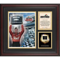 Fanatics Authentic 2005 Daytona 500 Program 3 Photograph Core Collage with Sprint Tower Banner-Limited Edition of 500 - $89.99
