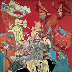 "Paula Rego, ""Self Portrait in Red"", 1935"