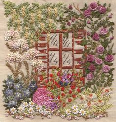 CLIMBING ROSE embroidery kit. Via canevasfollies.ch