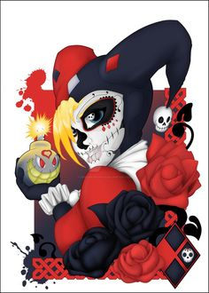 harley quinn sugar skull - Google Search