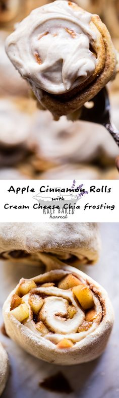 Apple Cinnamon Rolls with Cream Cheese Chia Frosting | halfbakedharvest.com @hbharvest