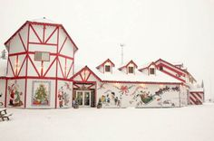 The Santa Clause House Santa Claus House, Santa Clause, Moving To Alaska, North Pole, Where The Heart Is, Small World, All Things Christmas, Great Places, Vintage Christmas