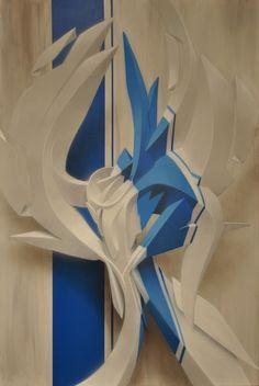 PEETA, Metaphisician (mixed media on canvas)