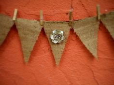 Burlap bunting banner by DECORBYTORIA on Etsy