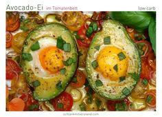 Avocado Ei im Tomatenbett low carb – schlank mit verstand