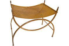 Brass-Plated Bench on OneKingsLane.com