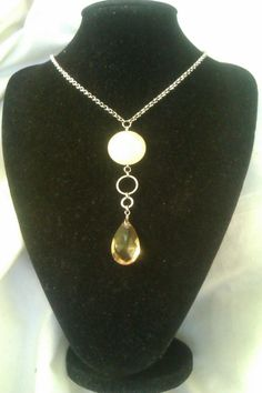 Delicate crystal and bead necklace