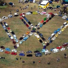 VW love- big field of VW logo