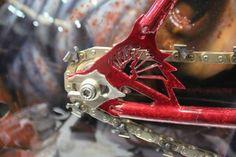 Peacock Groove Evil Dead II Theme Bike Rear Dropout Waterjet cut