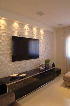 Resultado de imagem para decoração de home theater com papel de parede