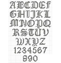 Couture Large ABC Chart