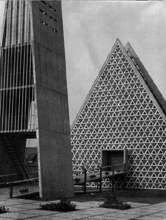 Jesus-Christus-Kirche (1961-63) in Kevelaer,... - German Post-War Modern