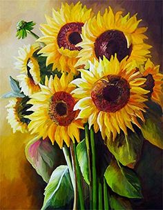 Sunflower-2 Diamond Painting Kits for Adults 100/% Full Drill 5D DIY Diamond Cross Stitch Embroidery Sunflower Design Home Decor14x18inch