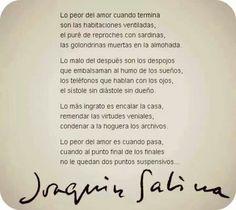 Joaquin Sabina.  lo peor del amor...