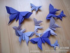 Butterfly origami tutorial.