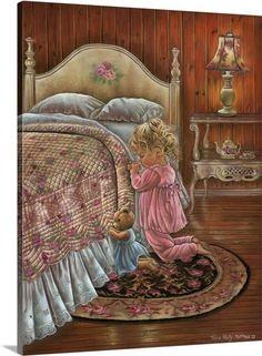 Trademark Global Tricia Reilly-Matthews 'A Prayer For You' Canvas Art - 24 x 32 Image Pinterest, Bedtime Prayer, Vintage Pictures, Belle Photo, Sweet Dreams, Good Night, Art For Kids, Art Children, Canvas Art