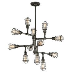 Troy Lighting Conduit 12 Light Chandelier