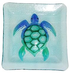 Fancy That offers a coastal inspired pattern to your table setting with this 10'' square plate. Plate is made of glass, features a decorative sea turtle design and coordinates with other dinnerware pieces to make an impressive setting for entertaining.