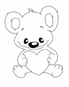 29 Printable Valentines Day Coloring Pages Koala Bear With Heart