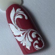 Choose from an Amazing Array of Nail Art Design Diy Nails, Cute Nails, Pretty Nails, Manicure, Christmas Nail Designs, Christmas Nail Art, Holiday Nails, Nail Art Arabesque, Sugar Nails
