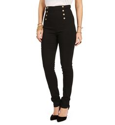 Black High Waisted Button Pants from @WindsorStore, Dress-casual, perfect for back-to-school (for a cosmetology student like myself) as well as an office setting || $26.90