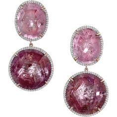 Irene Neuwirth Diamond Collection Oval Sapphire & Diamond Pave Earrin ($34,120) ❤ liked on Polyvore