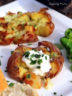 Patates écrasées au four. pas besoin d'éplucher!