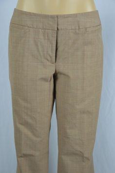 Apt. 9 Womens 8 Maxwell Beige Brown Plaid Dress Casual Pants Slacks Boot Cut #Apt9 #DressPants