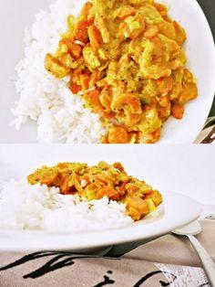 Reis mit Karotten-Curry