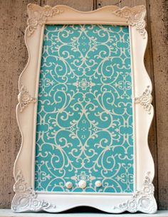 tiffany blue home decor | Beautiful Tiffany Blue Fabric - Magnetic Board 17 x 28 .5 Magnetic ...
