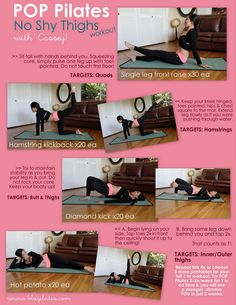 Pilates thigh workout, easy to do at home :)