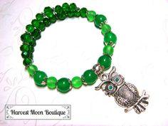 Owl Wrap Bracelet Owl Jewelry Handfasting Woodland Metaphysical Bracelet Spiritual Wiccan Pagan Jewelry Wicca Witchcraft Whimsical Owl by AngiePinkal