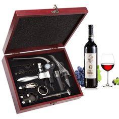 Amazon.com: Wine Opener Set - Smaier Rabbit Style Corkscrew, Wine Accessories, Wine Opener Kit Gift Set with Wood Case: Kitchen & Dining